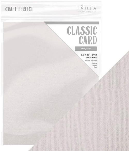 Tonic Craft Perfect Classic Card Misty Gray  8.5 x 11