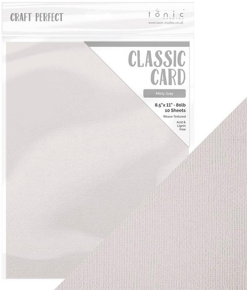 Tonic Craft Perfect Classic Card Misty Gray  8.5 x 11