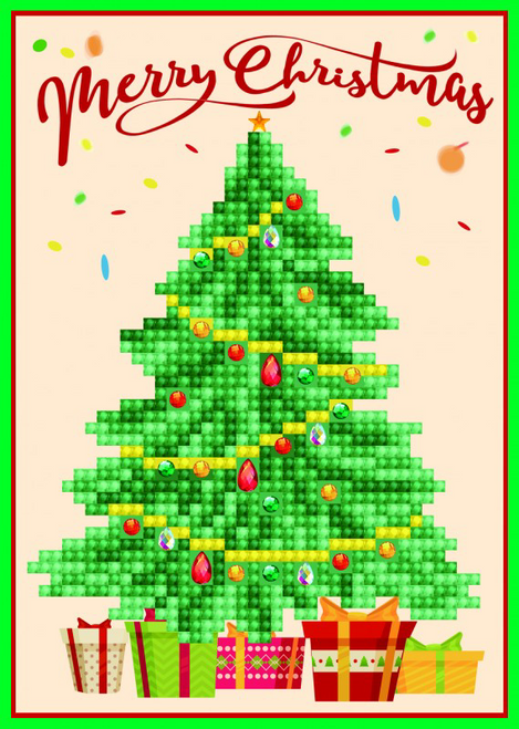 Diamond Dotz Christmas Tree Greeting Card