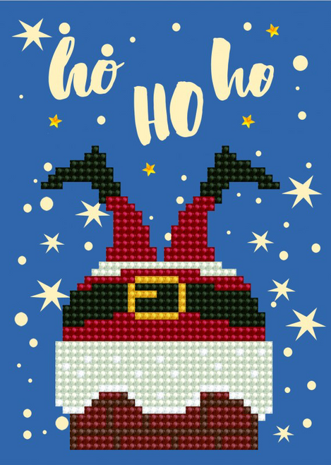Diamond Dotz Ho Ho Ho Greeting Card