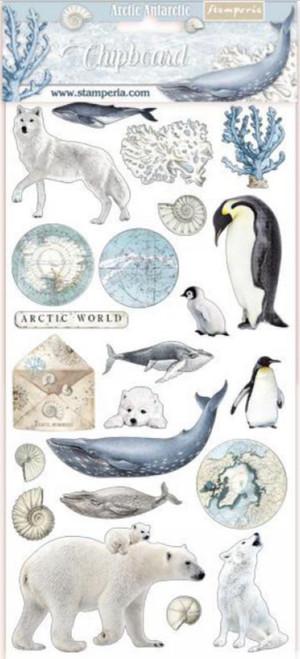 Stamperia Arctic Antarctic Chipboard