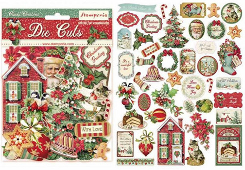 Stamperia Classic Christmas Die Cuts