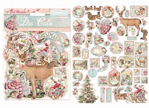 Stamperia Pink Christmas Die Cuts