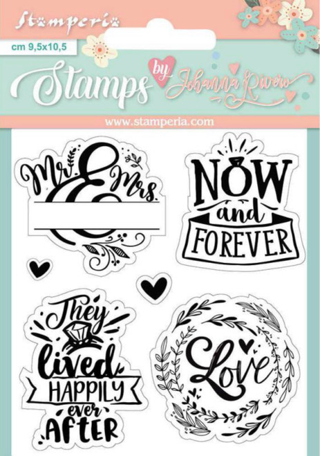 Stamperia Acrylic Stamp Set Now and Forever by Johanna Rivero