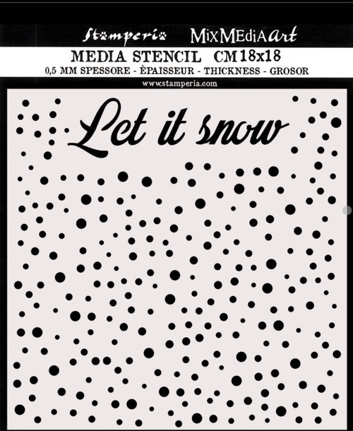 Stamperia Thick Stencil Let It Snow