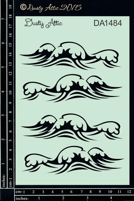 Dusty Attic Waves Stencil