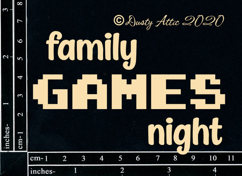 Dusty Attic Family Games Night Chipboard