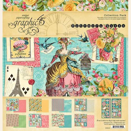 "Graphic 45 Ephemera Queen 12"" x 12"" Collection Pack"
