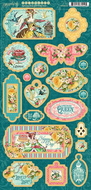 Graphic 45 Ephemera Queen Chipboard
