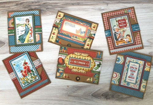 Graphic 45 Home Sweet Home Tag - Flap Card Set Monthly Card Kit Volume 9