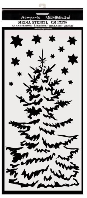 Stamperia Thick Christmas Tree Stencil