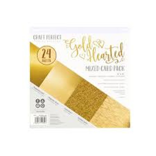 Tonic Craft Perfect Gold Hearted 6 x 6 Mixed Card Pack