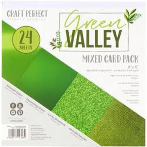 Tonic Craft Perfect Green Valley 6 x 6 Mixed Card Pack