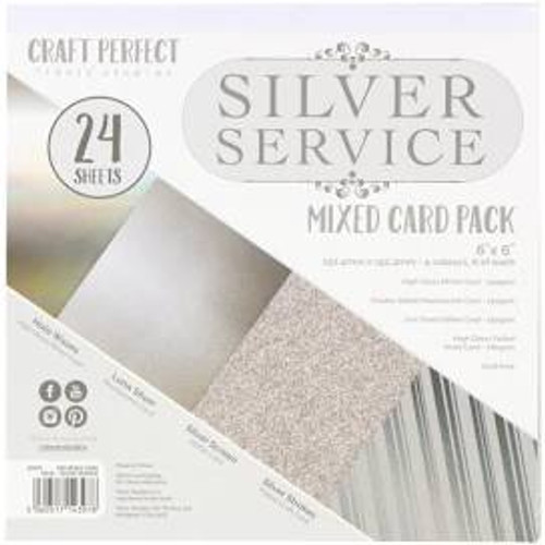 Tonic Craft Perfect Silver Service 6 x 6 Mixed Card Pack