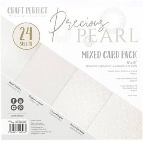 Tonic Craft Perfect Precious Pearl  6 x 6 Mixed Card Pack