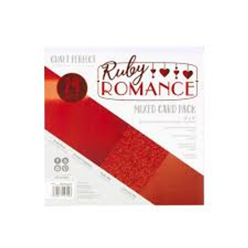 Tonic Craft Perfect Ruby Romance  6 x 6 Mixed Card Pack
