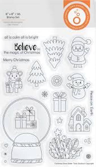 Tonic Studios Wonderful Wishes Stamps Christmas Snow Globe