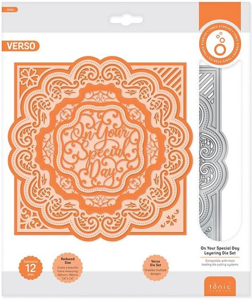 """Tonic Studios Verso """"On Your Special Day"""" Layering Die Set"""