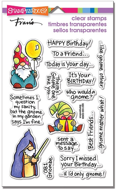 Stampendous Gnome Sayings Perfectly Clear Stamps