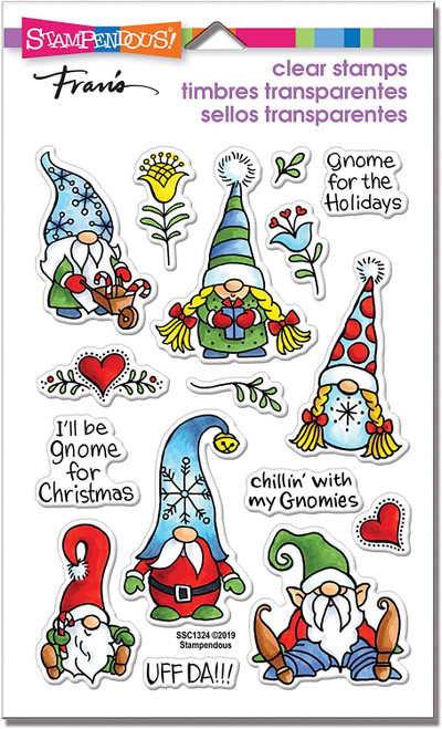 Stampendous Holiday Gnome Perfectly Clear Stamps