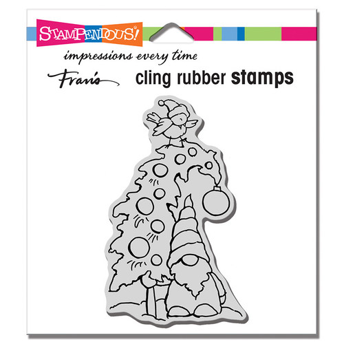 Stampendous Gnome Tree Cling Rubber Stamp