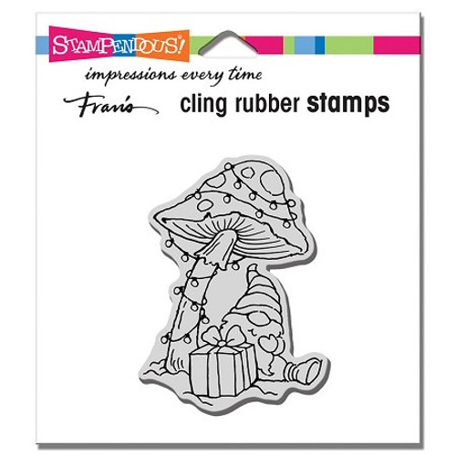 Stampendous Mushroom Gnome Cling Rubber Stamp