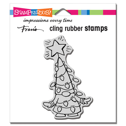 Stampendous Gnome Lights Cling Rubber Stamp