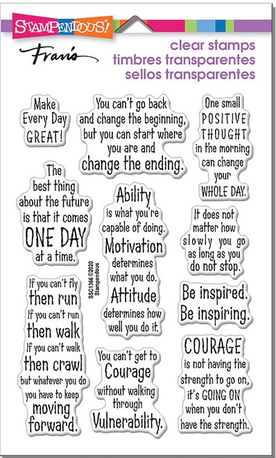 Stampendous Courage Quotes Perfectly Clear Stamps