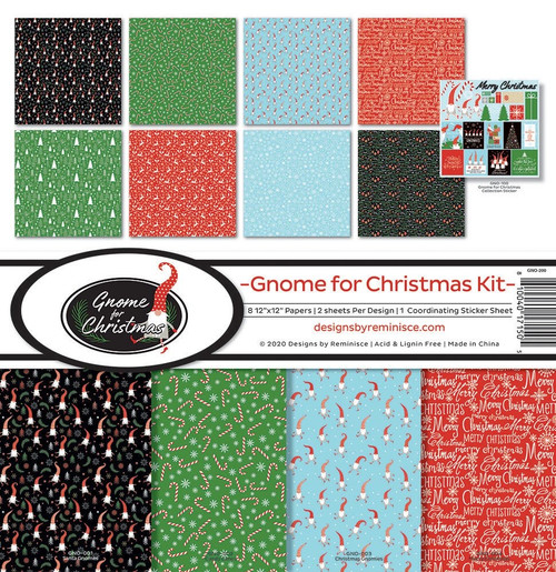 Reminisce Gnome for Christmas Paper Pack