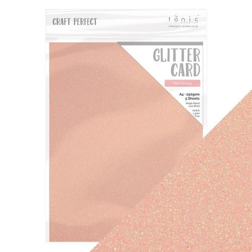 Tonic Craft Perfect Glitter Card Pink Frosting
