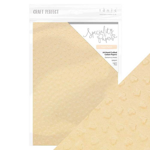 Tonic Craft Perfect Speciality Papers Hand Crafted Cotton Peach Parfait