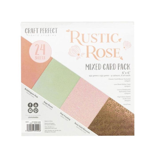 Tonic Craft Perfect Rustic Rose 6 x 6 Mixed Card Pack