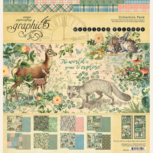 Graphic 45 Woodland Friends Collection Pack 12 x 12
