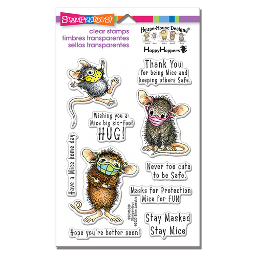 Stampendous  Masked Mice Perfectly Clear Stamps
