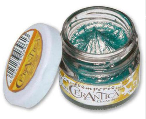 Stamperia Cerantica Ancient Wax Metallic Turquoise