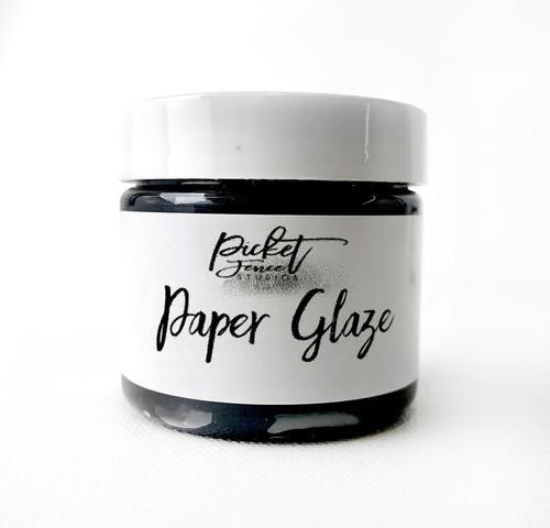 Picket Fence Studios Paper Glaze Black Pansy