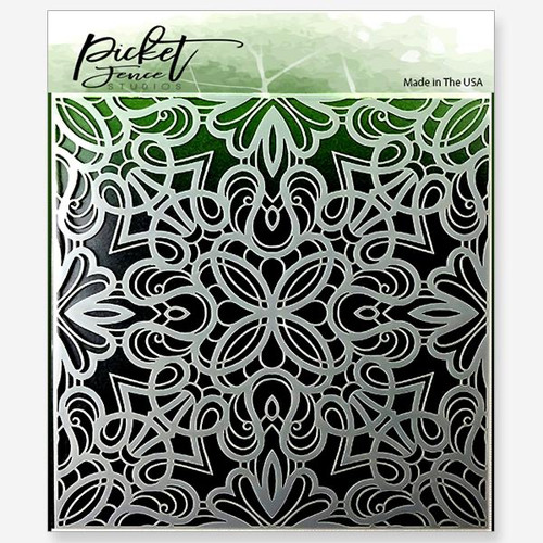 "Picket Fence Studios Fancy Flourishes 6"" x 6"" Stencil"