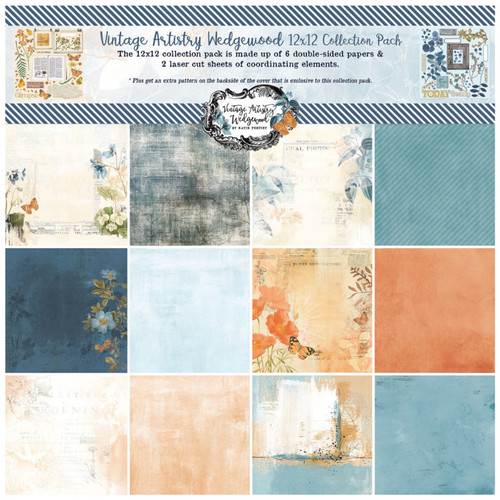49 and Market Vintage Artistry Wedgewood 12 x 12  Collection Pack