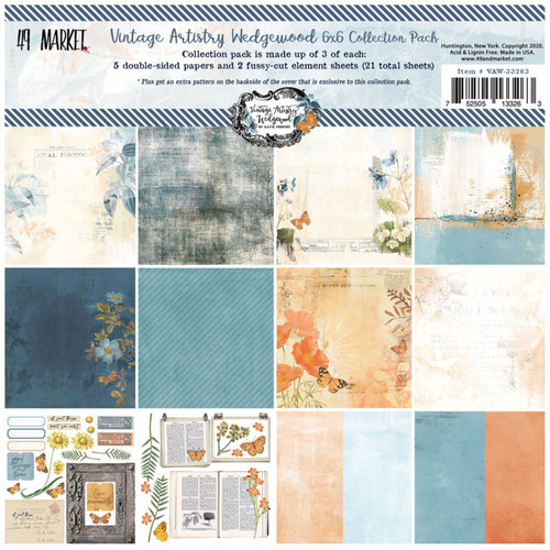 49 and Market Vintage Artistry Wedgewood 6 x 6  Collection Pack