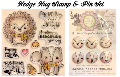 Darcie's Heart & Home Hedge Hug Stamp & Pin Set