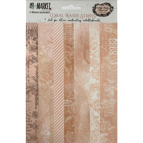 49 and Market Vintage Artistry Coral Washi Strips
