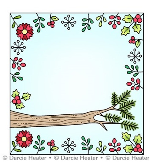 Darcie's Heart & Home Woodland Perch Stamp Set