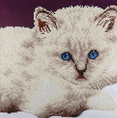 Diamond Art Diamond Dotz White Cat