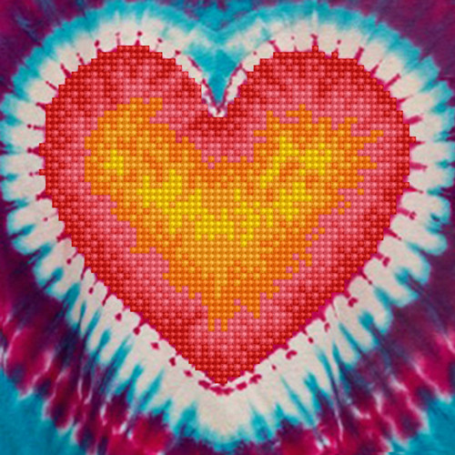 Diamond Dotz Tie Dye Heart