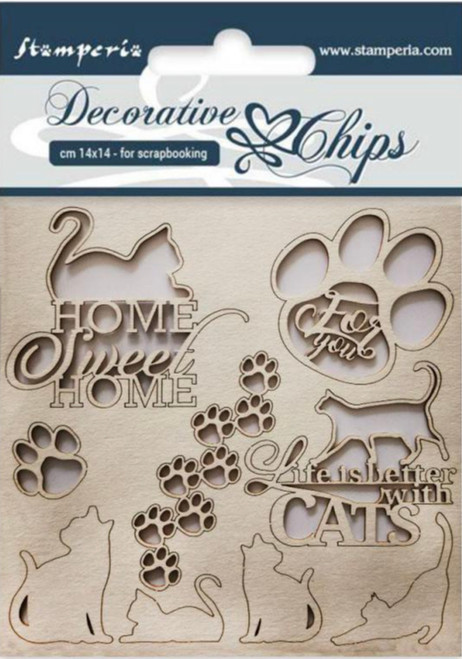 Stamperia Decorative Chips - Cats