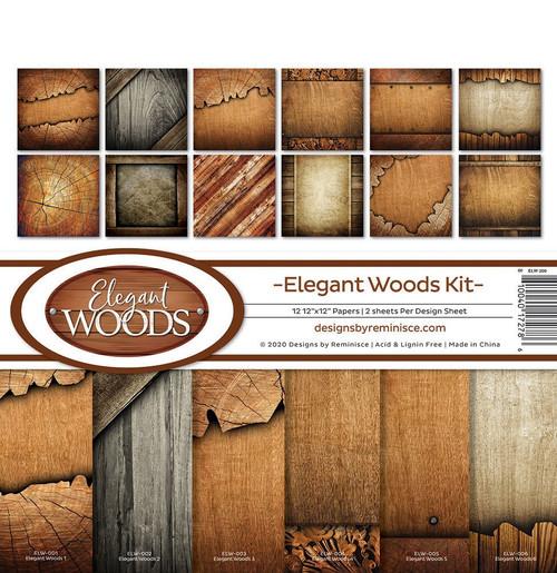 Reminisce Elegant Woods Kit Paper Pack