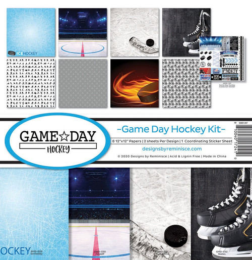Reminisce Game Day Hockey Kit Paper Pack