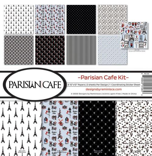 Reminisce Parisian Cafe Kit Paper Pack