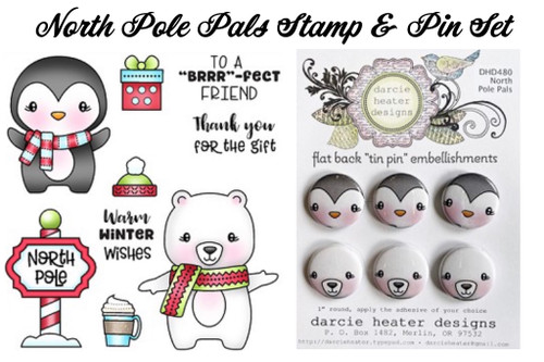 Darcie's Heart & Home North Pole Pals Stamp & Pin Set