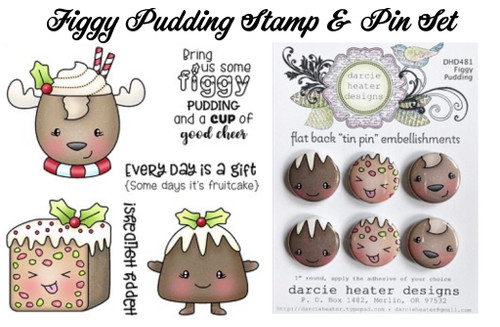 Darcie's Heart & Home Figgy Pudding Stamp & Pin Set